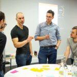 Roman teaching a product strategy class, Feb 2020, London